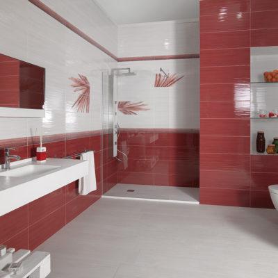 Lounge Rojo y Blanco 25x70